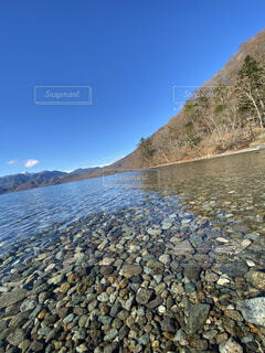 自然,空,屋外,湖,水面,山,岩,石