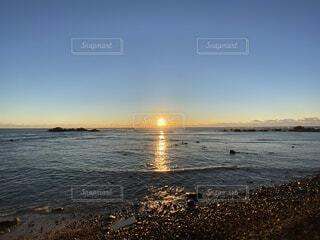風景,海,空,太陽,綺麗,美しい,朝,日の出,初日の出