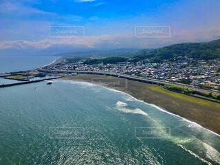 自然,海,空,屋外,湖,ビーチ,雲,青空,砂浜,船,水面,山,6月,湘南,空飛ぶ