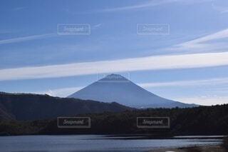 自然,空,富士山,屋外,湖,雲,水面,展望,山,景色,山梨県,景観