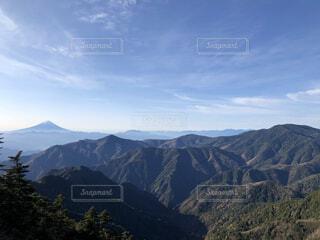 自然,風景,空,富士山,屋外,雲,展望,山,景色,樹木,山梨県,山脈,谷,景観,眺め,峡谷,山塊