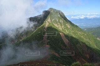 自然,風景,空,森林,屋外,雲,綺麗,霧,山,景色,長野県,山梨県,山脈,景観,八ヶ岳,山塊