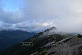 自然,空,森林,屋外,雲,綺麗,霧,山,景色,旅行,長野県,山脈,景観,燕岳,山塊