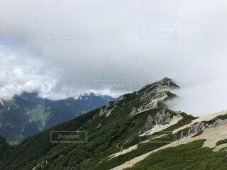 自然,風景,空,森林,屋外,雲,綺麗,霧,山,景色,丘,長野県,山脈,景観,燕岳,山塊