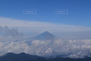 自然,風景,空,富士山,森林,屋外,雲,綺麗,山,景色,高原,山脈,景観,山塊