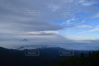 自然,風景,空,富士山,森林,屋外,雲,霧,山,景色,高原,山脈,景観,眺め,山塊