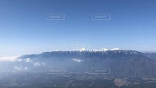 自然,風景,空,森林,雪,屋外,雪山,霧,山,景色,高原,南アルプス,景観,眺め,山塊