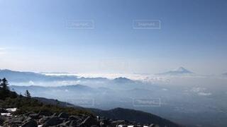 自然,風景,空,富士山,森林,雪,屋外,雲,雪山,霧,山,景色,丘,高原,景観,眺め,山塊