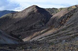 自然,空,森林,屋外,雲,山,景色,岩,高原,谷,景観,眺め,那須岳