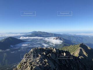 自然,空,森林,雪,屋外,山,景色,高原,サミット,山脈,北アルプス,景観,落葉,眺め,覆う,山腹,リッジ,山塊