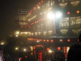 空,夜,屋外,霧,都会,旅行,台湾,明るい,九份,トラベル