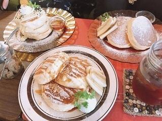 食べ物,パンケーキ,食事,デザート,テーブル,皿,料理,おいしい,菓子,ファストフード,スナック