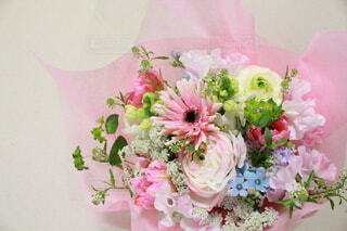 花,春,ピンク,花束,かわいい,ブーケ,可愛い,フラワーアレンジ,花屋,スイートピー,ラナンキュラス,切り花