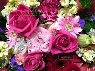 花,花束,花瓶,バラ,薔薇,草木