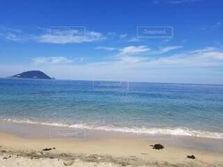 自然,風景,海,空,屋外,砂,ビーチ,雲,島,砂浜,水面,海岸,熱帯,カリビアン,海洋地形