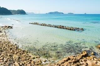 自然,風景,海,空,屋外,湖,ビーチ,水面,海岸,岩,浜辺,エメラルドグリーン,浜,きれいな海,山陰の海,山陰のキレイな海