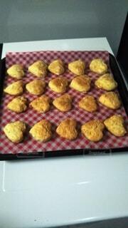 ハートクッキーをどうぞ‼の写真・画像素材[4123059]