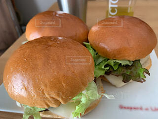 手作りハンバーガーの写真・画像素材[4180501]
