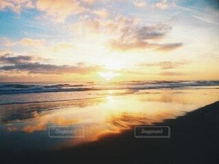 海,空,海外,朝日,ビーチ,朝焼け,オーストラリア,日の出,ゴールドコースト