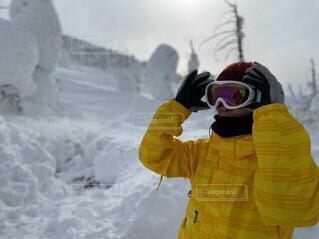 風景,冬,雪,屋外,山,人,芸術,スキー,スノボ,ゲレンデ,ハイキング,スキー場,スノーボード,樹氷,東北,蔵王,1月,2月,スノーモンスター,冬の東北