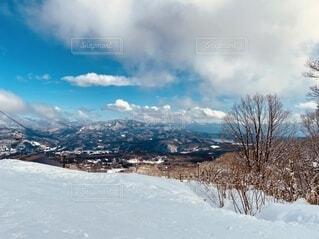 自然,空,冬,雪,屋外,雲,山,景色,スキー,スキー場