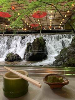 滝,川床 流しそうめん 京都 貴船