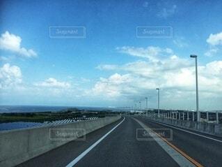 風景,空,夏,橋,屋外,雲,青空,道路,水平線,道