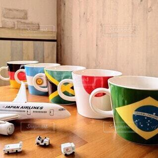 国旗柄マグカップの写真・画像素材[4343666]
