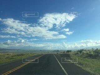 風景,空,屋外,雲,青空,道路,道,日中