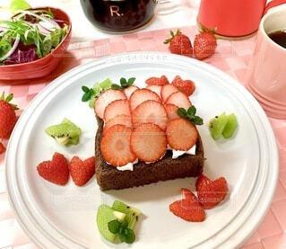 食べ物,いちご,デザート,果物,皿,おいしい,イチゴ,付け合わせ