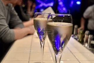 夜景,ワイン,グラス,乾杯,ドリンク,デート,白ワイン