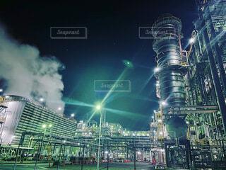 空,夜,夜景,屋外,工場,都会,工場夜景,明るい,感動