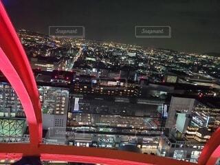 建物,夜,夜景,京都,都市,光,タワー,都会,キラキラ,高層ビル,明るい