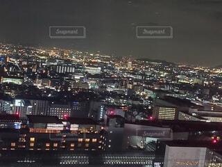 空,建物,夜,夜景,屋外,京都,カラフル,綺麗,都市,光,タワー,キラキラ,高層ビル,明るい