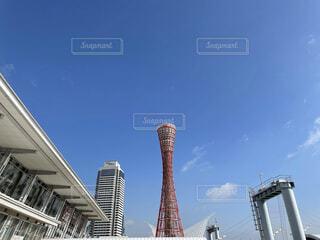 空,建物,屋外,雲,高層ビル,ポートタワー,アーキテクチャ