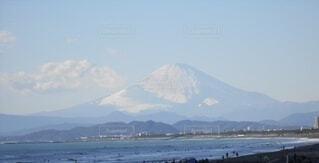 自然,風景,空,冬,富士山,雪,屋外,ビーチ,雲,海岸,山,江ノ島,日中