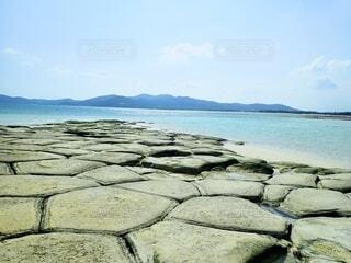 久米島の畳石の写真・画像素材[4130927]