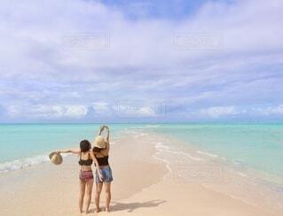 パラオのロングビーチの写真・画像素材[4155608]