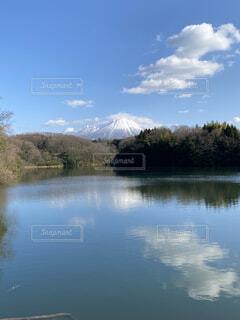 自然,風景,空,屋外,湖,雲,川,水面,池,山,樹木