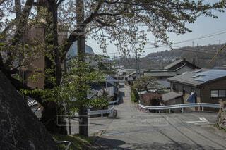 田舎ののどかな街並みの写真・画像素材[4165457]