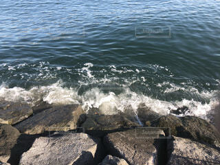 自然,海,公園,屋外,湖,ビーチ,波,水面,海岸,岩
