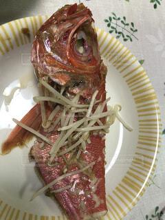 食べ物,魚,野菜,皿,ネギ,もやし,鯛,煮物,紅鯛,家 晩ご飯