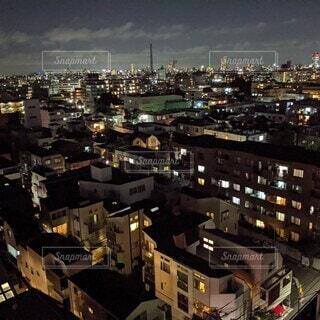 空,建物,夜,都市,家,タワー,高層ビル