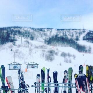 空,雪,屋外,山,スキー,スノーボード