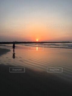 自然,海,空,屋外,湖,太陽,ビーチ,雲,夕暮れ,水面,海岸,朝焼け,日の出