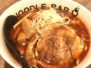 食べ物,赤,北海道,いっぱい,麺,バー,ラーメン,辛い,BAR,ヌードル,noodle,濃厚,ボウル,9,Q,恵庭市,チリヌードル