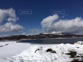 自然,風景,空,雪,屋外,湖,雲,晴れ,青空,山,日中
