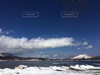 自然,空,雪,屋外,湖,雲,青空,雪山,山,曇り空