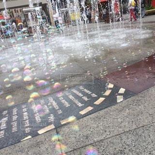 屋外,海外,水,幻想的,アメリカ,シャボン玉,都会,旅行,噴水,広場,地面,LA,ロサンゼルス,通り,路面,しゃぼん玉
