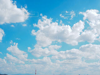 空,屋外,雲,晴れ,青空,青,水色,景色,グラデーション,日中